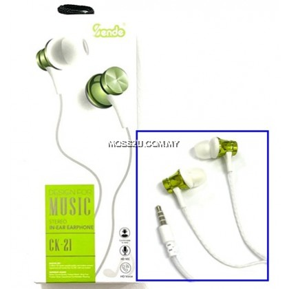 Sende CK21 Stereo In-Ear Headphone Wired Handsree Headset